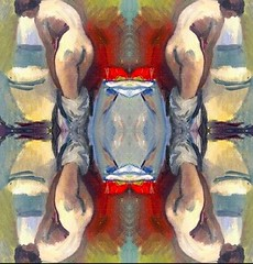 2016-08-21 symmetrical nude paintings 1 (april-mo) Tags: symmetry symmetrical nu nude painting art woman womanportrait body bodyart collage experimentaltechnique experimental french