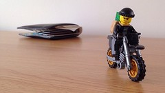 Thief! (Deanomite85) Tags: bike toy toys lego wallet getaway motorbike riding thief motorcycle minifig minifigs motorbikes mugging crook robber minifigure toyphotography minfigures legophotography legography