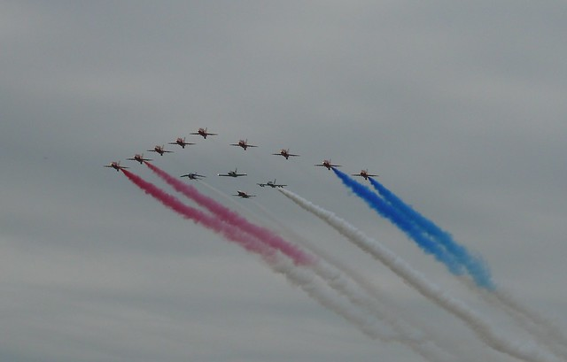 Red Arrows 50th Season Commemorative Flypast