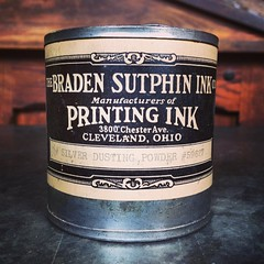 """1/4"""" Silver Dusting Powder, circa 1949. Label and contents like something from Hogwarts. (Cranky Pressman) Tags: square squareformat mayfair iphoneography instagramapp uploaded:by=instagram foursquare:venue=4dd7e9d28877f1150ff54fce"""
