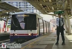 Thailand - Bangkok - Skytrain (railasia) Tags: station thailand bangkok postcard siemens infra 2012 bts sukhumvit railwork emu3 sukhumvitline routenº1 metrosubwayunderground