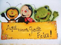 sapinho e joaninha (LID ARTS) Tags: de em prato panos pintura tecido