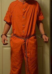 DSC_7530 (bob.laly) Tags: uniform chain jail shackles padlock handcuffs prisoner jumpsuit inmate