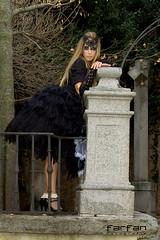 Davinia (jlhuys farfan) Tags: woman girl mujer model chica negro modelo rubia guerrera davinia gotica encajes farfan
