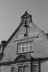 Penny street Bridge (Man with Red Eyes) Tags: window monochrome digital blackwhite adapter lancaster nofilter amedeo leicam8 incamerajpeg pennystreetbridge nikkorolympic50mmf14 nikonrangefindermonth