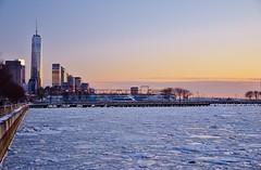Hudson River Park, 02.28.15 (gigi_nyc) Tags: nyc newyorkcity winter sunset snow ice frozen hudsonriverpark hudsonriver hudson frozenhudson