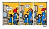superd family 04mini (ilsuperdisoccupato) Tags: italia fumetti bruno satira socialismo larepubblica crisi disoccupazione precariato superdisoccupato