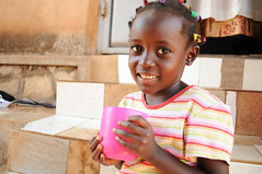 A child samples Healthy Start, our fortified porridge