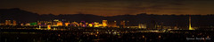 Vegas Strip (Spazoto) Tags: city las vegas sunset panorama gambling wheel skyline night canon buildings lights glow pyramid pano nevada ferris panoramic casino poker strip what clubs spencer luxor gamble stratosphere happens t3i bawden stays spazoto