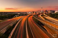 Spaghetti Junction (bgspix) Tags: city longexposure newzealand urban tower cars canon cityscape cities trails junction auckland nz spaghetti newton canoneos5dmarkiii bgsphotography bgspix ef1635mmf4lisusm