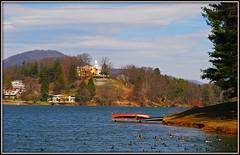 Lake Junaluska (Jerry Jaynes) Tags: houses lake mountains water birds geese nc dock ducks northcarolina canoe lakejunaluska haywoodcounty nikkor1685vr hcclakejunaluska lambuthinn smokymountainfolkfestival