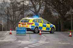 A228 Accident (jf01350) Tags: road blue ford car crash accident hill blues police ambulance blocked block emergency siren sirens twos frindsbury a228