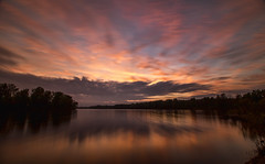 Tonight's sunset (Kevin Povenz) Tags: longexposure sunset sky lake reflection clouds evening pond michigan ottawa may 2016 westmichigan ottawacounty sigma1020 jenison 10stopfilter thebendarea canon7dmarkii kevinpovenz ottawacountyparks