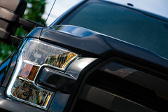 Ford F150 LARIAT (colbychipfrederick) Tags: blue trees sky black green ford corner truck shot f150 front lariat