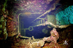 Truk Scuba Diving 2016, Shinkoku Maru, deep dark ship's ladder well WM (divemasterking2000) Tags: ocean travel lost photography japanese divers travels war king ship underwater pacific wwii dive traces scuba diving lagoon adventure shipwreck scubadiving fsm diver states truk adventures sunken sunk wreck scubadive artifacts tanker warship maru micronesia federated underwaterphotography 2016 chuuk battlesite wreckdive wreckdiving truklagoon tracesofwar shinkokumaru japaneseship shinkoku kaptures wreckdives kingkaptures kingkapturesphotography