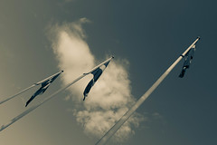Swedish Flags (xephera) Tags: sky cloud se sweden flag swedish flags serenity serene sverige swedishflag stillness jnkping swedishflags jnkpingsln