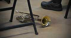 Music on the Ground Level (BKHagar *Kim*) Tags: music foot shoe concert graduation trumpet musical orchestra instrument brass bkhagar
