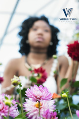 One with nature (Wright Way Photography) Tags: black flower girl beautiful beauty health lowes greehouse sesy wrightwayphotography canon1dxmarkii