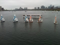 Sailboats in a line (hansntareen) Tags: mit parade rivercrossing 2016