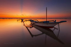 The Better Twin .. (zakies) Tags: travel bridge light sunset bali travelling beach sunrise indonesia island boat morninglight ray traditional twin transportation tranquil tuban kelan sanur jimbaran beutiful jukung zakiesphotography mohdzakishamsudin zakiesimage