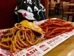 Spicy Cowboy burger with sweet potato smashfries (Morton Fox) Tags: food nj mapleshade smashburger