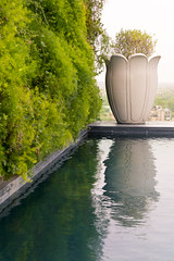 The Leela Palace (Mohammadtaqi.com) Tags: new blue india reflection green pool wall architecture hotel design gm outdoor g delhi sony palace master vase fe leela f28 2470 a7rii