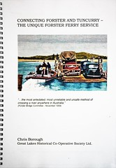 Cover of Chris' Book  - available through Great Lakes Historical Society (Brown Dog Forster) Tags: australia greatlakes newsouthwales booklaunch tuncurry greatlakesmuseum blackdiamondimages forstertuncurryferry midcoastshire