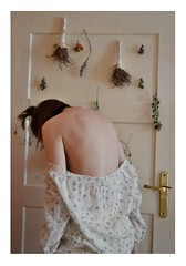 Her name is FLORA (Adanethel) Tags: girl woman flowers flower delicate white portrait body selfportrait autoportrait