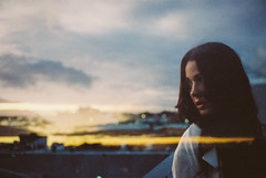 From Here On Out (Louis Dazy) Tags: sunset film rooftop girl clouds analog 35mm photography exposure double dreamy