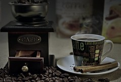 Coffee Bean Grinder (khalid almasoud) Tags: coffee bean grinder smoke home studio light led cafe ricohimagingcompany ltdpentaxk3 pentaxk3 wood flickr estrellas pentaxflickraward