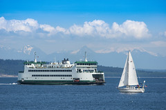 Ferry Kennewick and Sailing near Port Townsend (kathleen_kitto) Tags: ferry sailing porttownsend