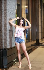 DP1U1401 (c0466art) Tags: blue portrait baby hot girl beautiful smile face female night canon photo nice eyes asia long pretty pants jean legs sweet gorgeous taiwan short figure attractive charming 1dx c0466art