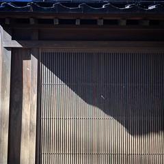 upload (Christine Cho) Tags: shadow japan square japanese wooden screen squareformat teahouse strips kanazawa eave kanasawa iphoneography instagramapp