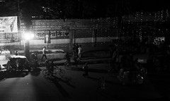 Shadow (Shadman241091) Tags: shadow people road ricksha cars light chittagong night