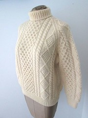 John Molloy Ivory Aran Fisherman T-Neck Sweater Heavyweight (Mytwist) Tags: ireland heritage classic wool fashion fetish john cozy sweater fisherman knitting warm fuzzy ivory craft style passion fishermans turtleneck knitted heavy molloy heavyweight aran authentic bulky laine vouge cabled tneck vtg rollneck rollkragen vgc woolfetish grobstrick