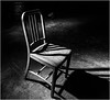Lonely chair (ronnymariano) Tags: chair shadow directionallight bnw urbandecay 2016 light pennhurst pa dark abandonedamerica dirt abandonedplaces abandoned dust asylum alone springcity pennsylvania unitedstates us monochrome blackandwhite