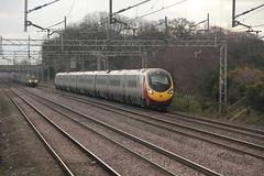 390049 Acton Bridge, Cheshire (Paul Emma) Tags: uk railroad england train cheshire railway virgin electrictrain pendolino virgintrain wcml actonbridge 68002 68003 class68 390049 4s43 1s42