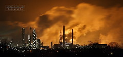 Wesseling Industry (ab-planepictures) Tags: industry night deutschland fire nightshot nacht feuer industrie dri langzeitbelichtung wesseling nachtfoto godorf