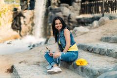Daria 004 (Svetlana Kniazeva) Tags: park sunset portrait beach canon model dubai style photosession lifestylephotography 50mmf12l dubaiphotographer svetlanakniazeva photosessionindubai