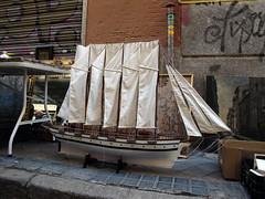 Velero (Rafa Gallegos) Tags: madrid old espaa sailboat vintage boat spain barco ship antiguo maqueta velero elrastro antigedades