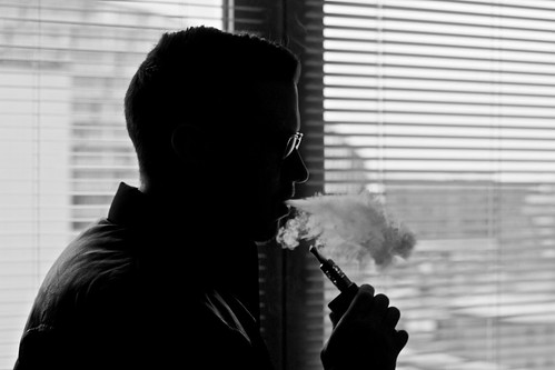 Vaping Man With Electronic Cigarette / E by jonnwilliams, on Flickr