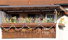 (:Linda:) Tags: germany easter town decoration garland thuringia flowerbox easterdecoration themar woodenbalcony franconianporch