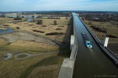 Magdeburg Water Bridge seen from a kite (Pierre Lesage) Tags: kite germany delta kap kiteaerialphotography pierrelesage danleighr8 kapstock gopro4 wideanglefrance magdeburgwatercanal