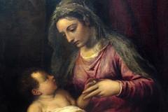 Titien, Vierge à l'Enfant (dét.), c. 1560 — Accademia, Venise, mars 2015 (Stéphane Bily) Tags: venice painting peinture venise accademia titian pietà vierge titien stéphanebily