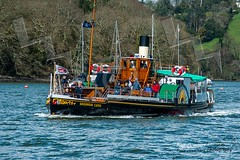 Kingswear Castle (Paul Chambers Photography) Tags: summer landscape outdoors landscapes boat day steamboat paddleboat steamer dartmouth riverdart traveldestinations nostagia dartmouthengland kingwearcastle philipssonsboatyard