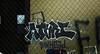 arive - atari - inkhead (timetomakethepasta) Tags: new york city nyc building fence graffiti atari ykk inkhead arive