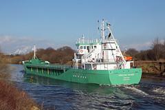 'Arklow Raider' Cadishead 5th April 2015 (John Eyres) Tags: park manchester for canal ship wharf passing trafford arklow raider 050415 inward cargills cadishead cerestar