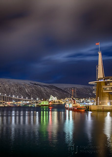Tromso Harbour by Night
