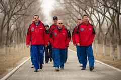 Expedition 43 Media Day (201503210030HQ) (NASA HQ PHOTO) Tags: nasa kazakhstan baikonur scottkelly jeffwilliams cosmonauthotel billingalls gennadypadalka mikhailkornienko sergeivolkov expedition43 alexeiovchinin expedition43preflight oneyearmission