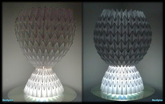 Origami Waterbomb Base / Paper Lamp Or Goblet Type Chalice (NeoSpica / NeoLiveArt) Tags: light art lamp paper origami decorative crafts vase lantern fold base tessellation corrugation folding papercraft chalice pleated tessellated pleating corrugations waterbomb pleat